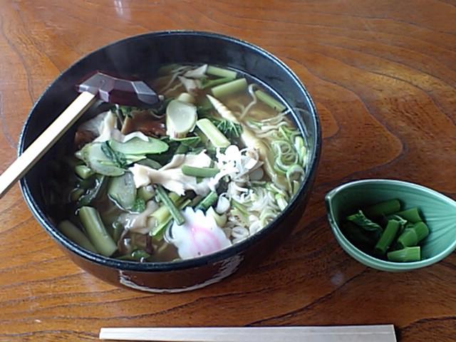 湖月山荘 山菜ラーメン